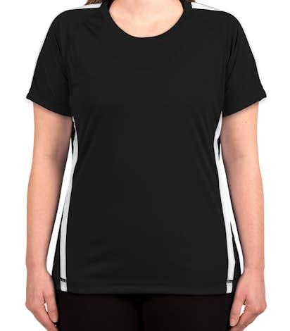 Sport-Tek Ladies Competitor Colorblock Performance Shirt - Black / White