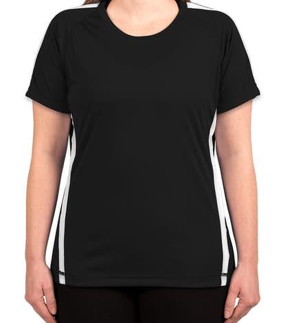 Canada - ATC Ladies Competitor Colorblock Performance Shirt - Black / White