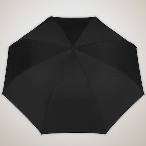 """48"""" Inverted Double Layer Umbrella with C Handle - Black"""