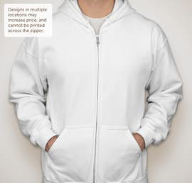 Canada - Gildan Midweight Zip Hoodie - Color: White