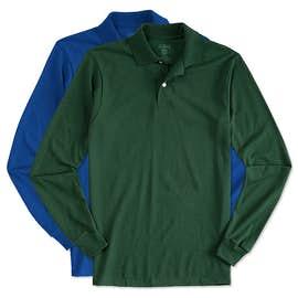 Jerzees Spotshield 50/50 Long Sleeve Jersey Polo