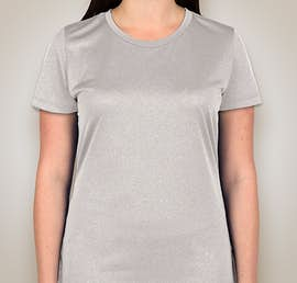 Champion Ladies Vapor Heather Performance Shirt - Color: Oxford Grey