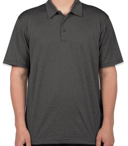 Sport-Tek Heather Performance Polo - Embroidered - Graphite Heather