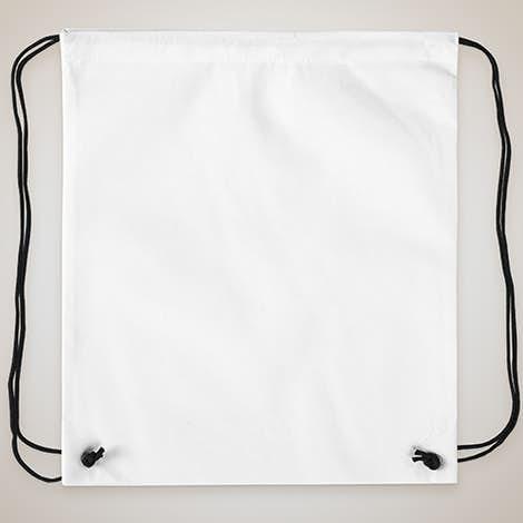 Promotional Non-Woven Drawstring Bag - White