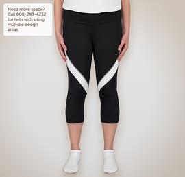 Augusta Ladies Action Colorblock Performance Capri Pant - Color: Black / White