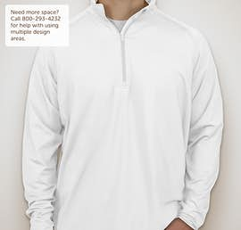 Sport-Tek Performance Half Zip Pullover - Color: White