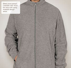 Port Authority Heather Microfleece Full Zip Jacket - Color: Pearl Grey Heather