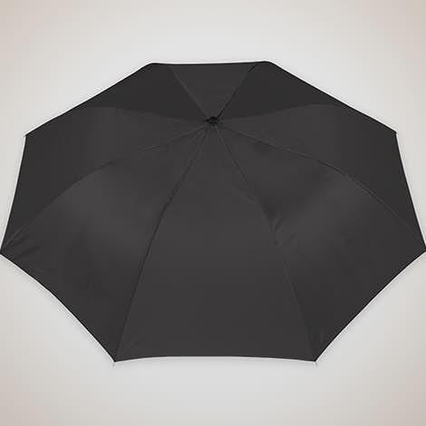 "Arc Auto Open Solid Telescopic 44"" Folding Umbrella - Black"