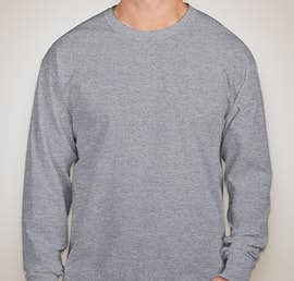 Fruit of the Loom 100% Cotton Long Sleeve T-shirt - Color: Athletic Heather
