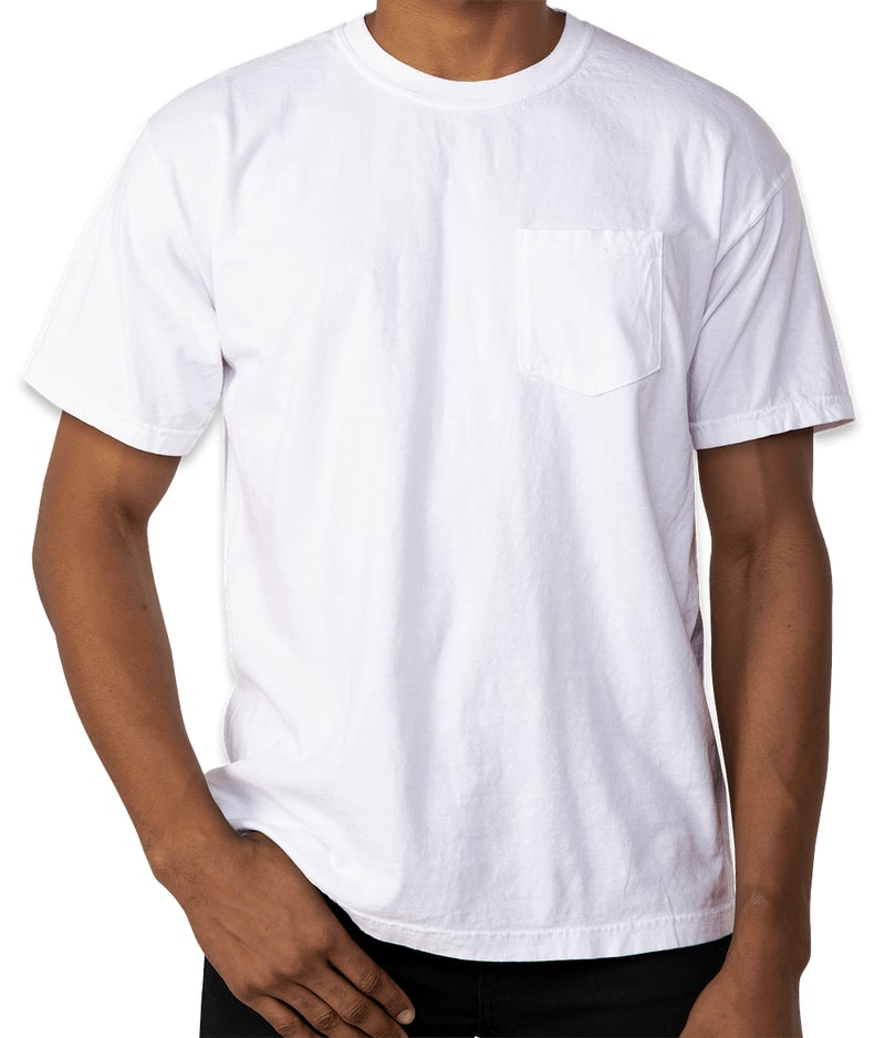 Custom comfort colors 100 cotton pocket t shirt design for One color t shirt