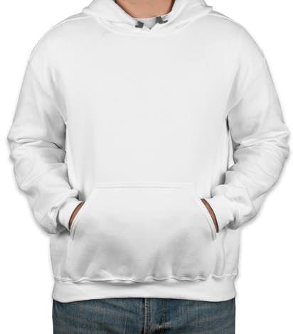 Canada - Gildan Premium Blend Midweight Pullover Hoodie - White