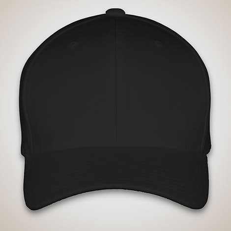 Yupoong Wool Flexfit Hat - Black