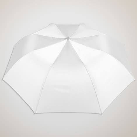 """Vitronic Solid Auto Open Compact 44"""" Umbrella - White"""