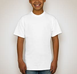Hanes Youth 50/50 T-shirt - Color: White
