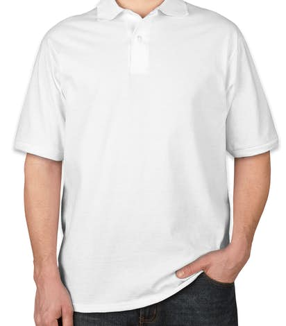 Jerzees Spotshield 50/50 Jersey Polo - White
