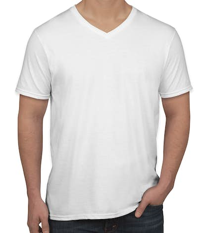 Gildan Softstyle Jersey V-Neck T-shirt - White