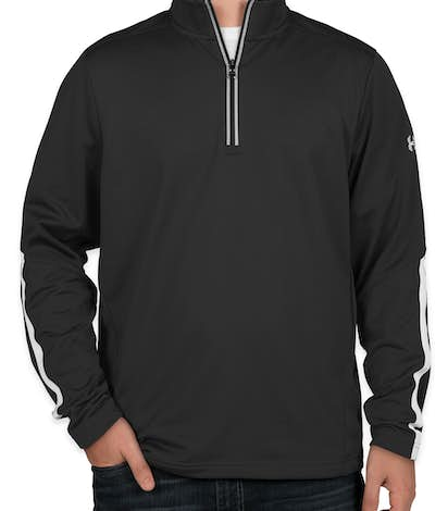 Under Armour Qualifier Performance Quarter Zip - Black / White