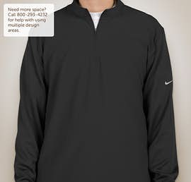 Nike Golf Dri-FIT Lightweight Quarter Zip Pullover - Color: Black / Black