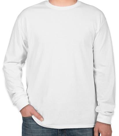 Custom Gildan 100% Cotton Long Sleeve T-shirt - Design Long Sleeve ...