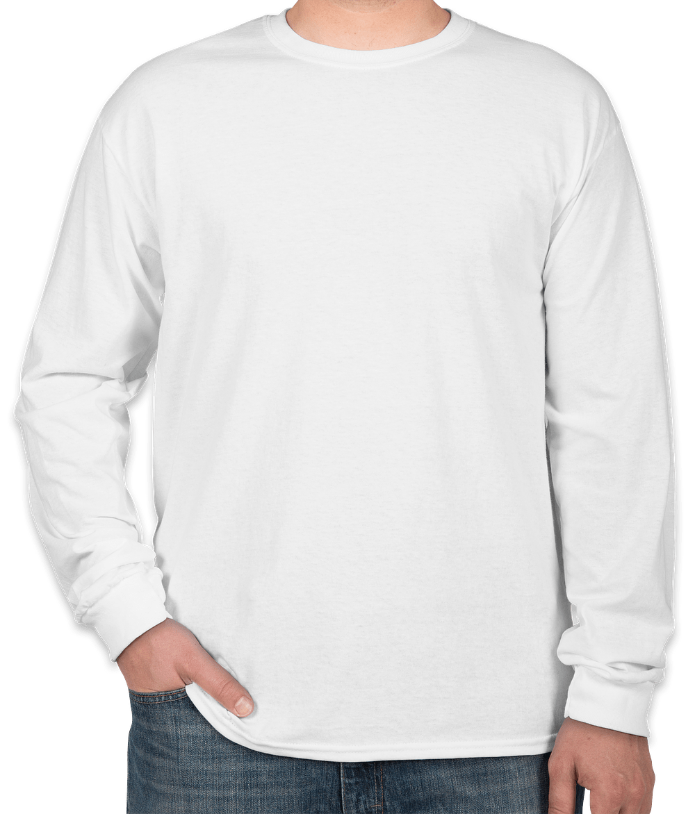 Custom Canada - Gildan 100% Cotton Long Sleeve T-shirt - Design T ...