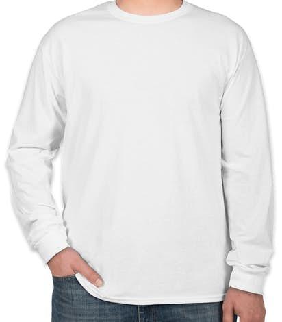 Custom canada gildan 100 cotton long sleeve t shirt for Custom full color t shirt printing