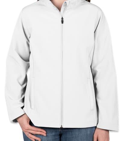 Team 365 Ladies Soft Shell Jacket - White