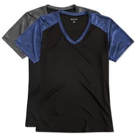 Sport-Tek Ladies CamoHex Colorblock Performance Shirt
