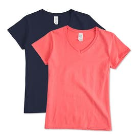 Gildan Ladies 100% Cotton V-Neck T-shirt