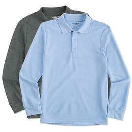 Gildan Dryblend Double Pique Long Sleeve Polo