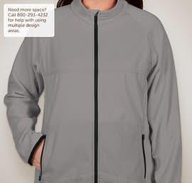 Team 365 Ladies Hybrid Microfleece Full Zip Jacket - Color: Sport Graphite