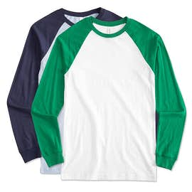 Canvas Long Sleeve Baseball Raglan