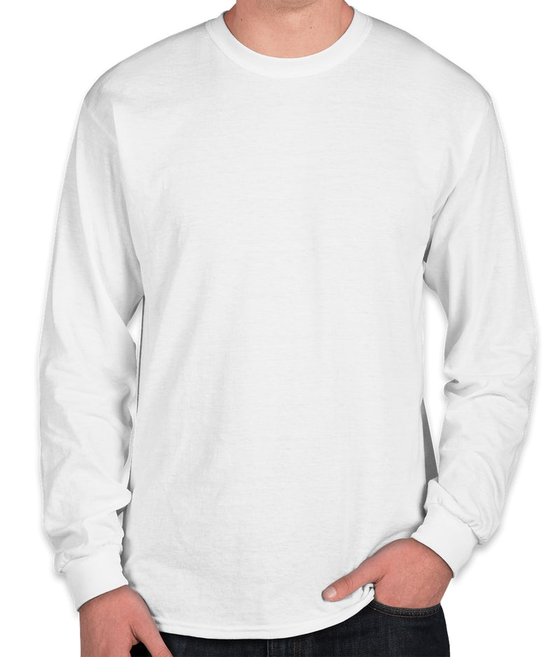 Custom gildan 50 50 long sleeve t shirt design long for Custom 50 50 t shirts