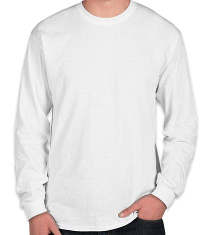 Gildan 50/50 Long Sleeve T-shirt - White