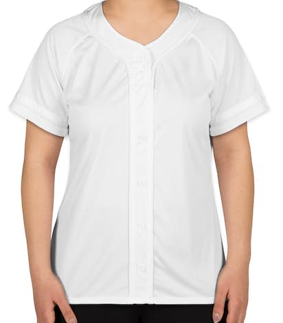 Augusta Ladies Winner Softball Jersey - White / White