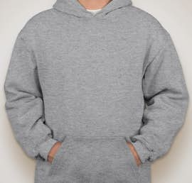 Bayside Heavyweight USA Pullover Hoodie - Color: Dark Ash