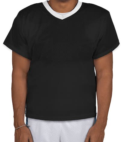 Augusta High Score Lacrosse Jersey - Black / White