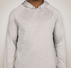 Augusta Tonal Heather Hooded Performance Shirt - Color: Silver