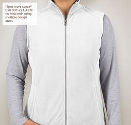 Port Authority Ladies Microfleece Vest - Color: White