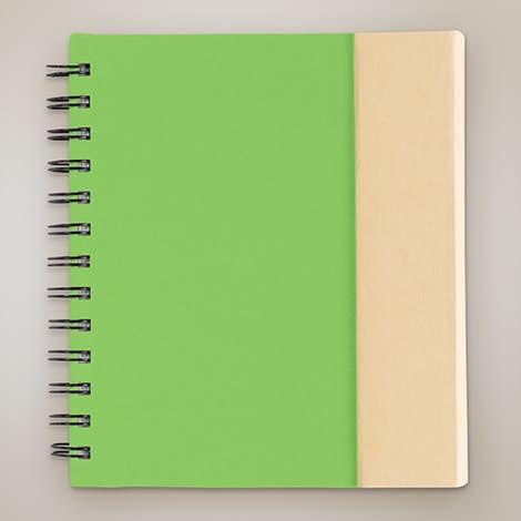 Organized Lock-it Spiral Notebook w/ Pen - Green