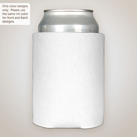 Foldable Can Cooler - White