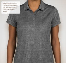 Nike Golf Dri-FIT Ladies Crosshatch Performance Polo - Color: Cool Grey / Anthracite
