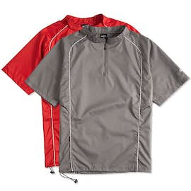 Rawlings Quarter Zip Baseball Short Sleeve Pullover