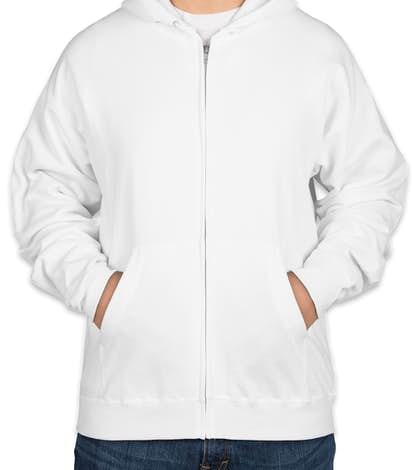 Hanes EcoSmart® 50/50 Zip Hoodie - White
