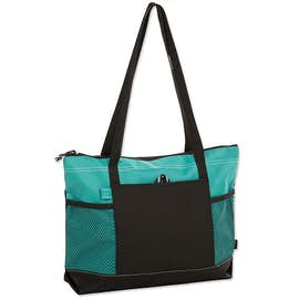 Large Multi-Pocket Zippered Tote