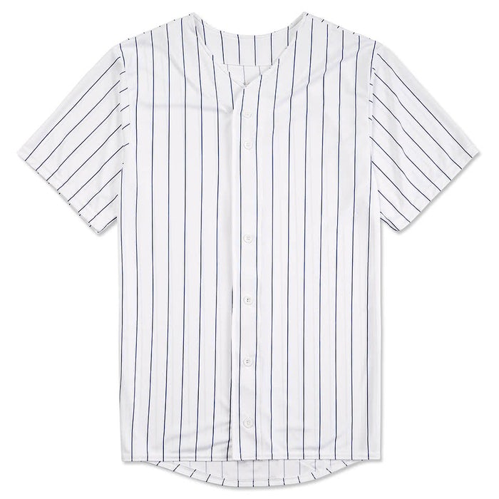 Design Custom Augusta Pinstripe Full Button Baseball Jerseys Online ...