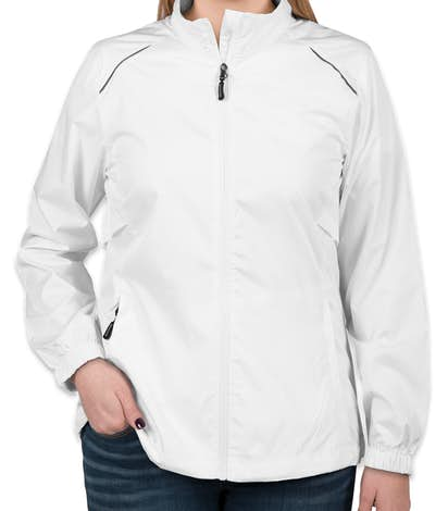 Core 365 Ladies Lightweight Full Zip Jacket - White