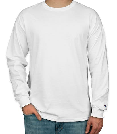 Champion Tagless Long Sleeve T-shirt - White