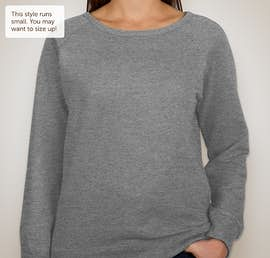 Independent Trading Juniors Lightweight Crewneck Sweatshirt - Color: Gunmetal Heather