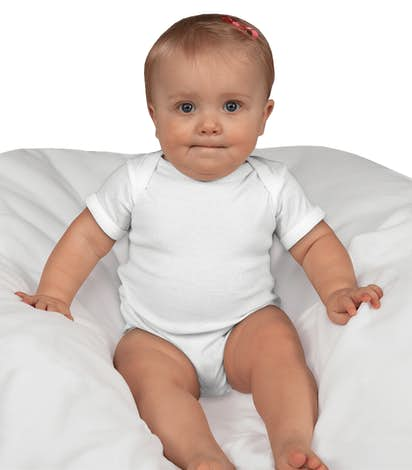 Rabbit Skins Infant Jersey One-piece - White