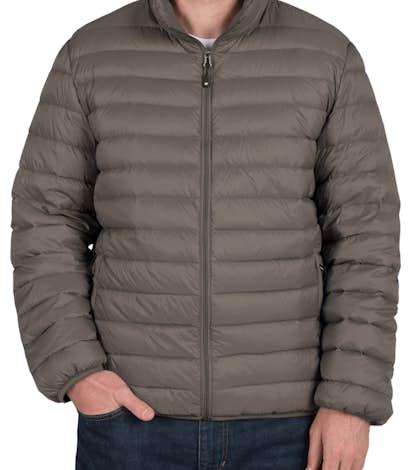 Weatherproof Packable Down Jacket - Dark Pewter